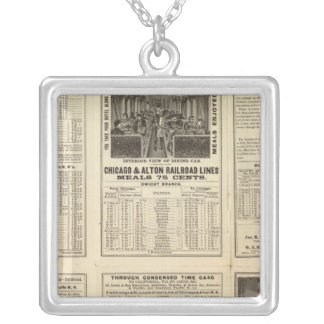 Chicago and Alton Railroad 2 Silver Plated Necklace
