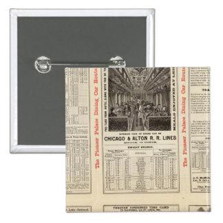 Chicago and Alton Railroad 3 15 Cm Square Badge