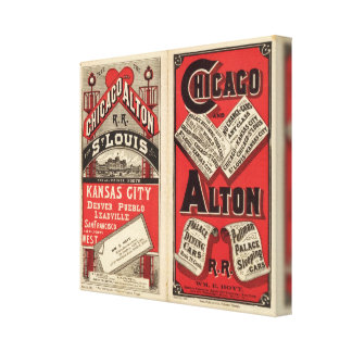 Chicago and Alton Railroad 3 Canvas Print