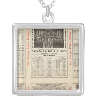 Chicago and Alton Railroad 3 Silver Plated Necklace