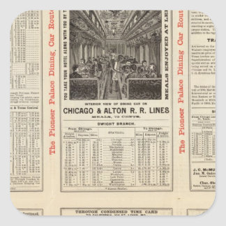 Chicago and Alton Railroad 3 Square Sticker