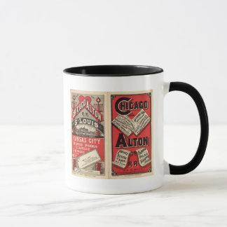Chicago and Alton Railroad Mug