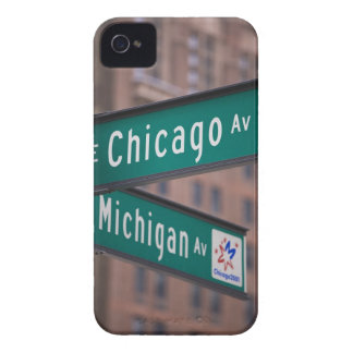 Chicago and Michigan Avenue signposts, Chicago, iPhone 4 Case-Mate Cases