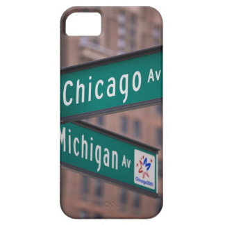 Chicago and Michigan Avenue signposts, Chicago, iPhone 5 Case