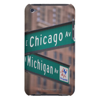 Chicago and Michigan Avenue signposts, Chicago, iPod Touch Case-Mate Case