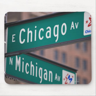 Chicago and Michigan Avenue signposts, Chicago, Mouse Mat