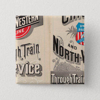 Chicago and North Western Line 15 Cm Square Badge