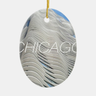 Chicago Aqua Tower Christmas Ornament