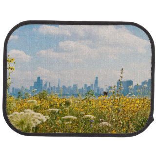 Chicago as seen from Montrose Harbor's bird Car Mat
