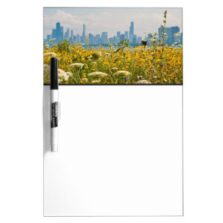 Chicago as seen from Montrose Harbor's bird Dry Erase Board