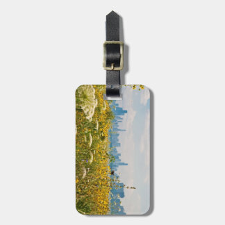 Chicago as seen from Montrose Harbor's bird Luggage Tag