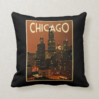 Chicago At Night Cushion
