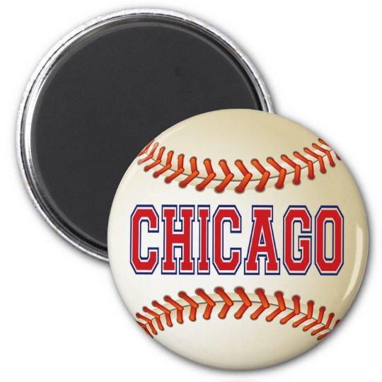 CHICAGO BASEBALL 6 CM ROUND MAGNET
