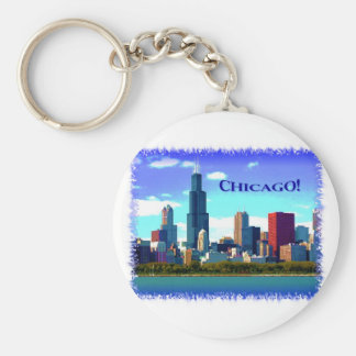 Chicago Basic Round Button Key Ring