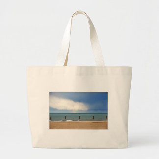 Chicago beach tote bags