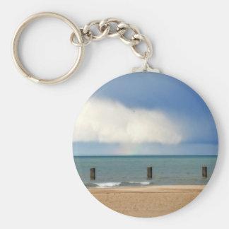 Chicago beach key chain