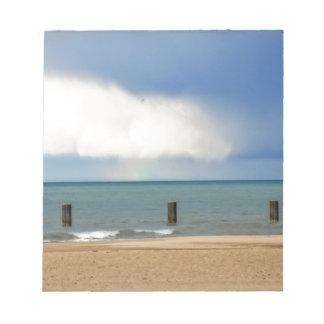Chicago beach memo note pad