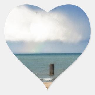 Chicago beach heart sticker