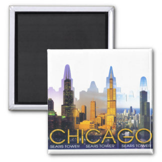 CHICAGO BEAUTIFUL LANDMARKS SQUARE MAGNET