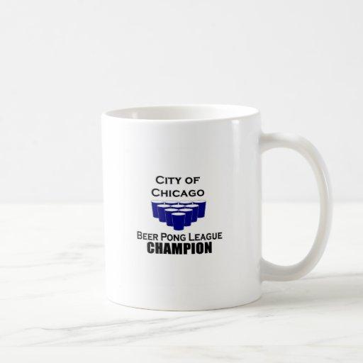 Chicago Beer Pong Champion Mugs