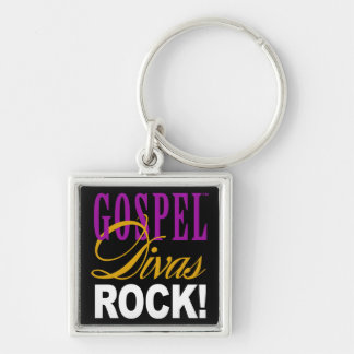 CHICAGO BLING - Gospel Divas Rock! Silver-Colored Square Key Ring