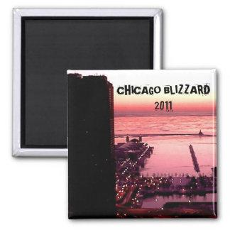 CHICAGO BLIZZARD 2011 REFRIGERATOR MAGNET