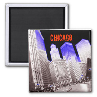 CHICAGO BLUE MAGNET