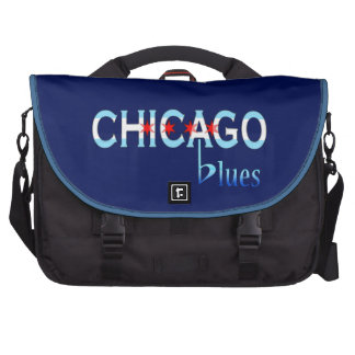 Chicago Blues, Chicago Flag Design Bags For Laptop