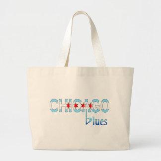 Chicago Blues, Chicago Flag Design Jumbo Tote Bag
