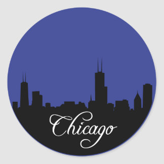 Chicago Blues Classic Round Sticker