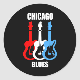 Chicago Blues Classic Round Sticker