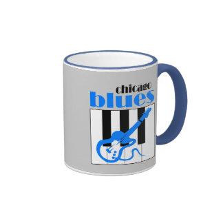 Chicago blues coffee mugs