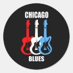 Chicago Blues Round Sticker