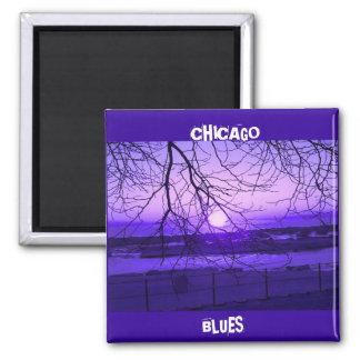 CHICAGO BLUES SQUARE MAGNET