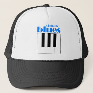 Chicago blues trucker hat