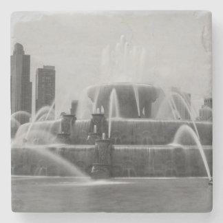 Chicago Buckingham Grayscale Stone Coaster