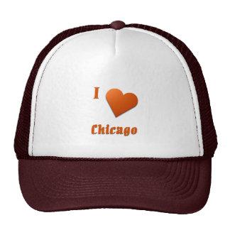 Chicago -- Burnt Orange Mesh Hats