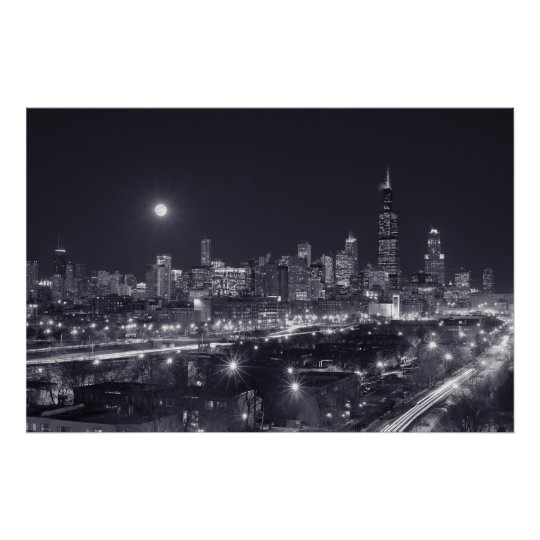 Chicago By Night Poster