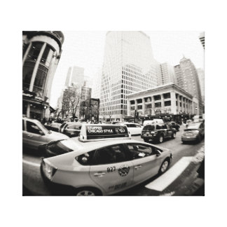 Chicago cab gallery wrapped canvas