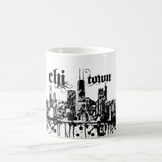 """Chicago """"chi-town"""" put on for your city mugs"""
