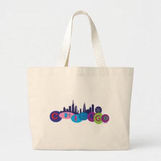 Chicago-Circles-1 Large Tote Bag