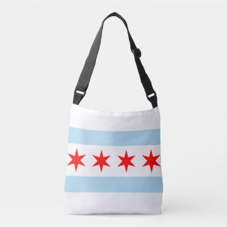 Chicago city flag crossbody bag