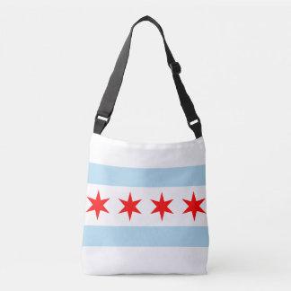 Chicago city flag tote bag