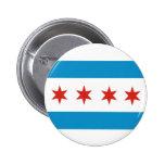 chicago city flag usa america 6 cm round badge