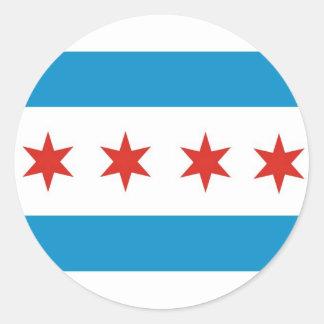 chicago city flag usa america round stickers
