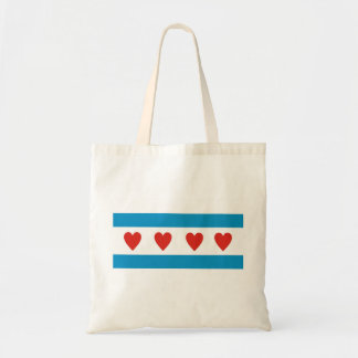 chicago city love flag hearts usa united states am tote bag