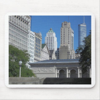 Chicago city scene mouse pad