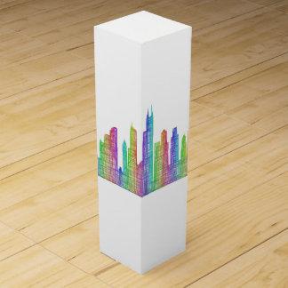 Chicago city skyline wine box