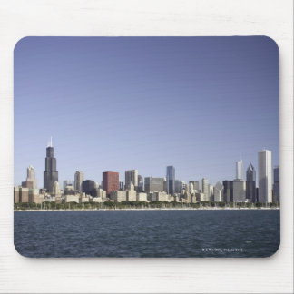 Chicago city skyline with Lake Michigan 2 Mouse Mat