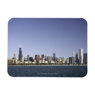 Chicago city skyline with Lake Michigan 2 Rectangular Photo Magnet